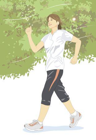 women sport: Women walking