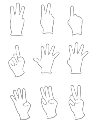 represents: Hand that represents the number Stock Photo