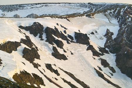 lingering: Of snow Zao Stock Photo