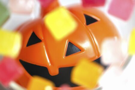 jackolantern: Candy and Jack-o-Lantern Stock Photo