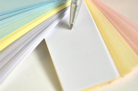 ballpoint pen: Word cards and ballpoint pen