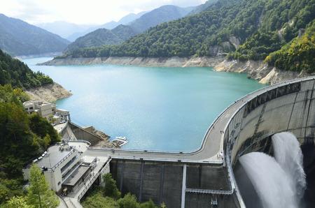 Kurobe barrage Banque d'images - 46246354