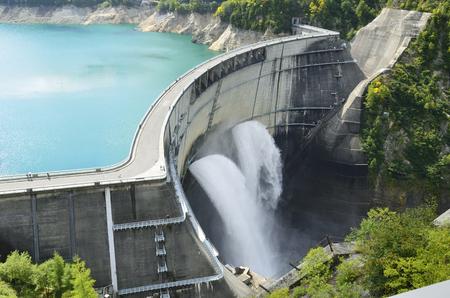 구로베 댐 스톡 콘텐츠