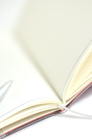 ballpoint pen: Pocketbook and the ballpoint pen Stock Photo