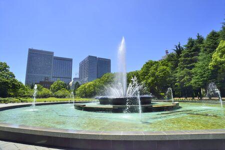 coolness: Hibiya Park fountain