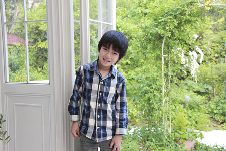 young fellow: Smiling boy Stock Photo