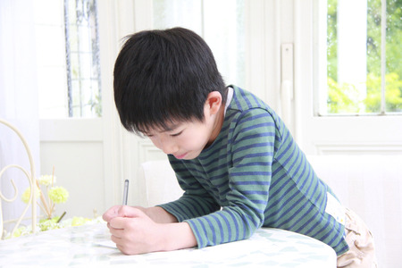 absorbed: Boy to be absorbed in painting
