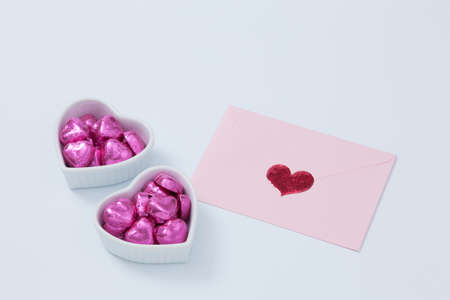 heart vessel: Chocolate went into the pink envelope and the Heart of vessel