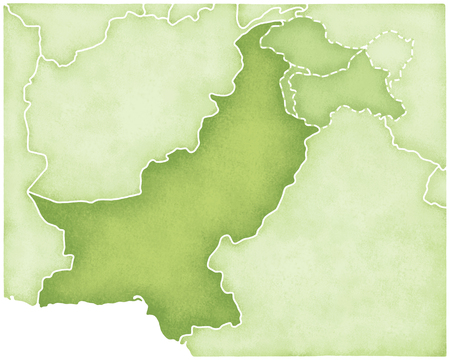 pakistan: Pakistan map