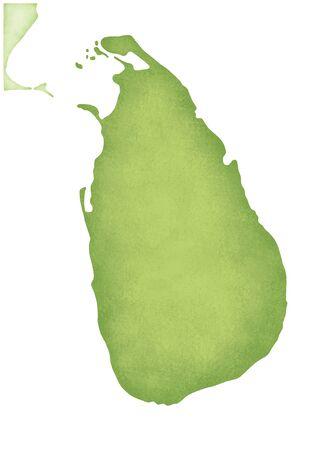 Sri Lanka map 免版税图像