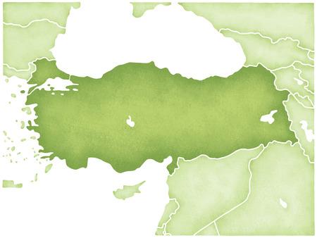 トルコの地図 写真素材