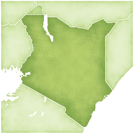kenya: Kenya Map Stock Photo
