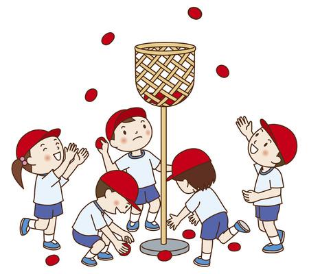 meet: Ball holder of athletic meet