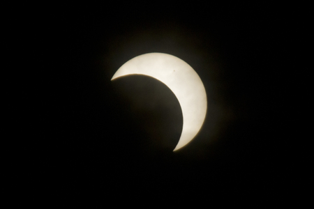 eclipse: Annular solar eclipse observation Stock Photo