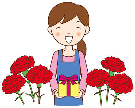carnation: Mom and Carnation Stock Photo