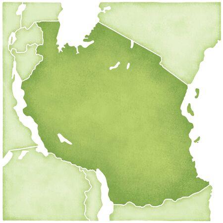tanzania: Tanzania Map Stock Photo