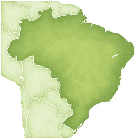 federative republic of brazil: Brazil map
