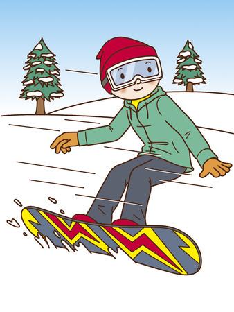 snowboarding: Men Snowboarding Stock Photo