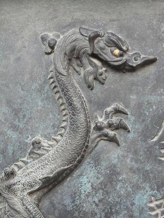 nishinomiya: Sculpture of the dragon of Nishinomiya Ebisu Shrine