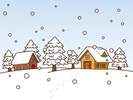 habitation: Snow scene