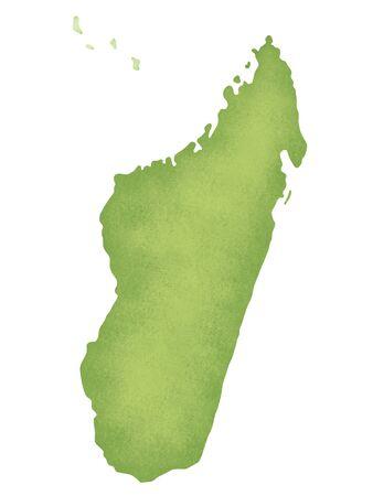 madagascar: Madagascar Map Stock Photo