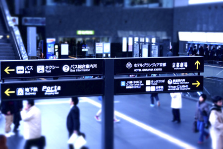 JR Kyoto station signboard