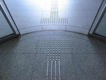 building entrance: Building entrance of the circular automatic door