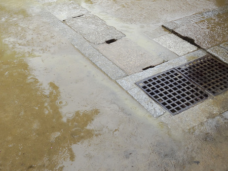drainage: Drainage ditch of rainwater
