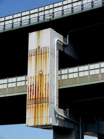 rusty: Pier rusty highway Stock Photo