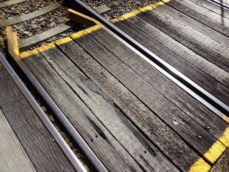 railroad crossing: Small railroad crossing