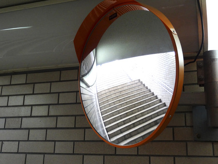 underground passage: Security mirror of the underground passage