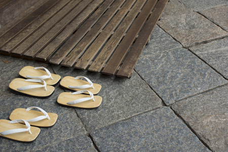 sandals: Leather soled sandals and Sunoko
