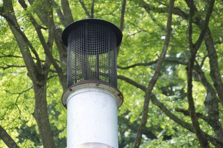 incinerator: Chimney of the garbage incinerator