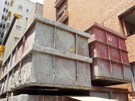 建設現場の瓦礫財布の貨物
