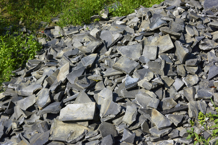 wastes: Scraps of discarded obtained tile Stock Photo
