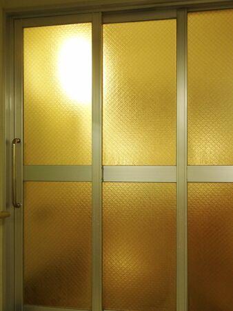 sash: Sliding doors of aluminum sash Stock Photo
