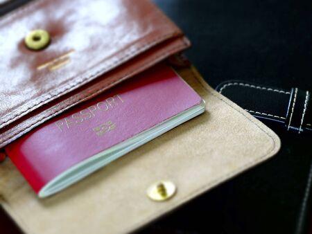 may�sculas: caja del pasaporte