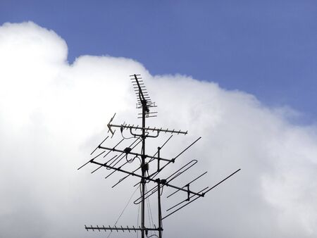 tv antenna: TV antenna and the blue sky