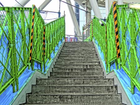 footbridges: Staircase construction of pedestrian bridge