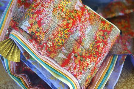 sleeve: Sleeve of twelve-layered ceremonial kimono of Japanese paper doll