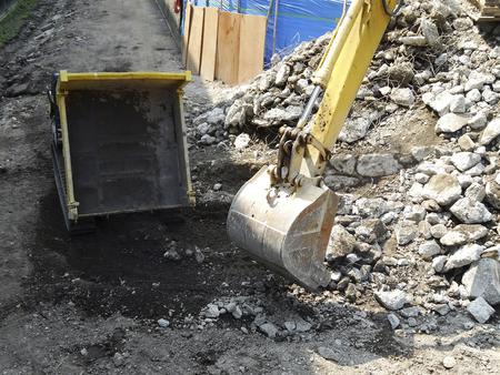 dumps: Minidump of construction site Stock Photo