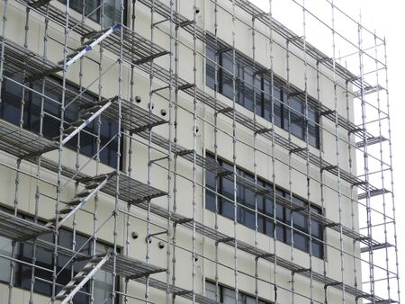 Scaffolding of exterior work of building