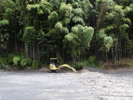 土木工事現場の重機 写真素材