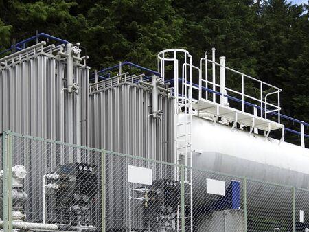 lp: LP gas tank Stock Photo