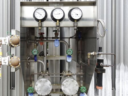 liquefied: Control panel of the device you want to vaporized gas from liquefied gas