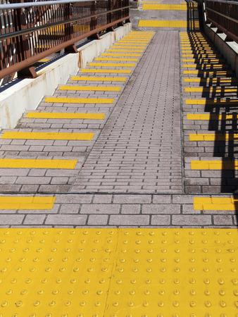 braille: Footbridge Braille panel of