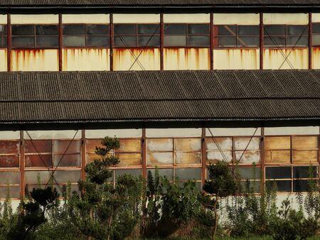 prefab: Old prefabricated warehouse