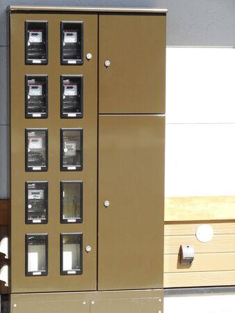 meter box: Electricity box Stock Photo