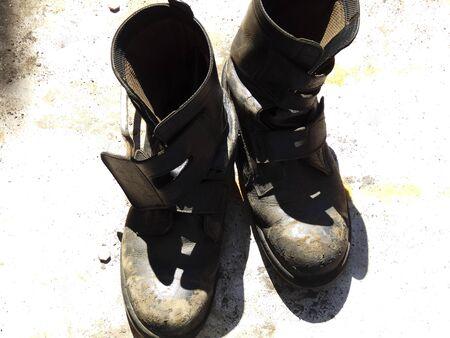 calzado de seguridad: Zapatos de seguridad del trabajador de construcción