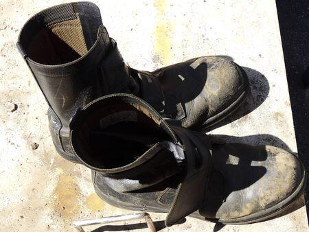 zapatos de seguridad: Zapatos de seguridad del trabajador de construcci�n